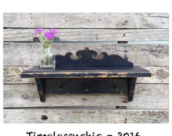Wall Shelf - Bathroom Shelf - Kitchen Shelf - Wood Shelf - Wooden Shelf - Rustic Decor - Nautical Decor -CHIC