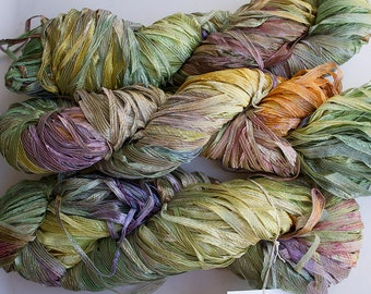Frost, Hand dyed Ribbon Yarn - Summer