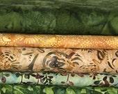 Hoffman Bali Batik Fat Quarter Bundle 5 Fat Quarters