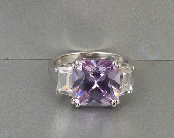 Sterling Purple Ring