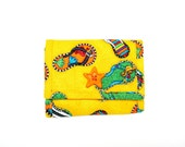 Flip-Flops Ladies Handmade Fabric Wallet / 11 Pockets / Credit Card Holder