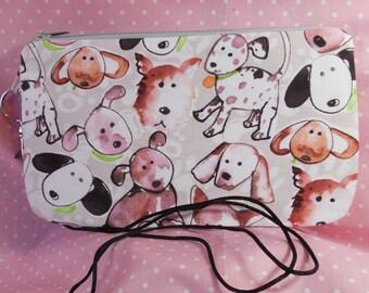 Cell phone bag made of a pretty cartoon puppy print CPCB001