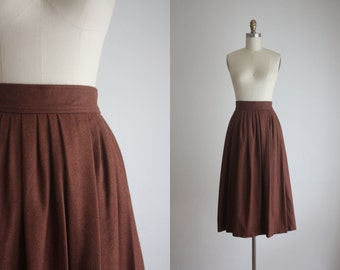 whiskey wool skirt