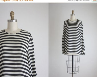 25% Memorial Day Sale striped sheer tunic