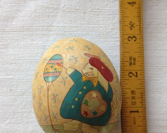 Antique Hand painted Egg Box