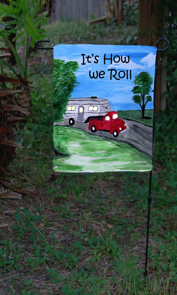 Camper Trailer Camping Garden Flag From Art Available In 2