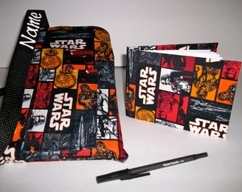 Disney Star Wars autograph book bag with book, bag and pen Personalized for free adjustable strap for Disney pin collection