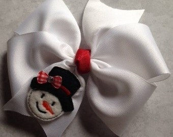wintertime Christmas snowman inwhite and red for girls toddlers babies