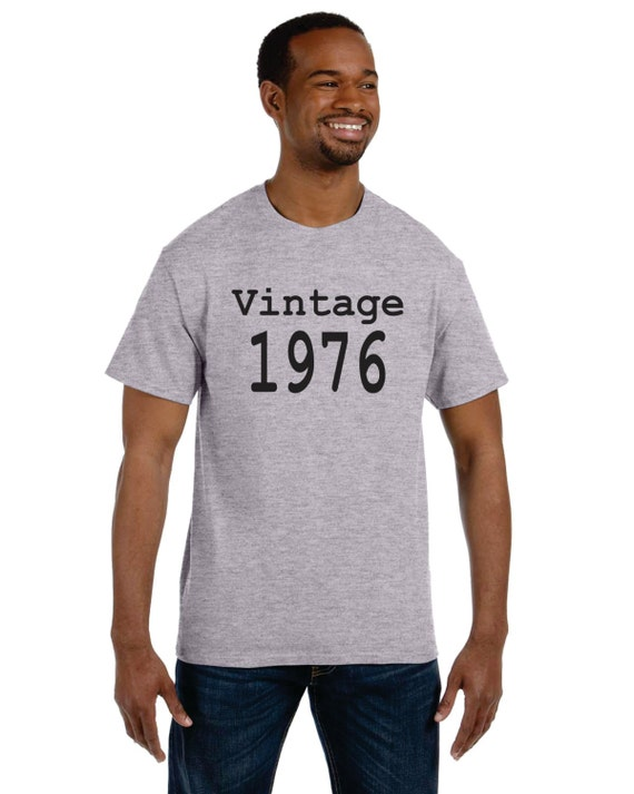 Vintage 1976 40th Birthday S-3X black adult shirt NEW Available in any year