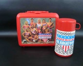 Vintage American Gladiators Lunchbox with Thermos