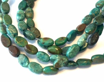 petite REAL TURQUOISE ovals full strand