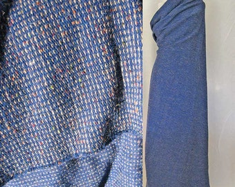 Fabric Wool Cobalt Blue Tweed