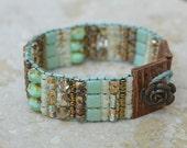 RESERVED LISTING for CAYMANRIDGE - Artisan Hand Loomed Beaded Bracelet - Handmade by SplendorVendor