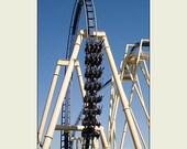 Montu Steel Roller Coaster Busch Gardens 5x7 print with 8x10 mat