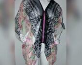 Chiffon Lightweight Jacket / Beach Jacket/ Chiffon Jacket/ Swimwear coverup