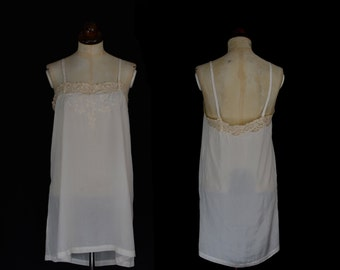 Original Vintage 1920s Silk Lace Slip  - Small - FREE SHIPPING WORLDWIDE