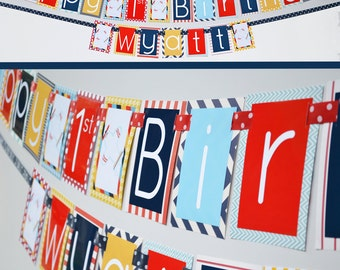 Airplane Birthday Party Banner - Fully Assembled Decorations