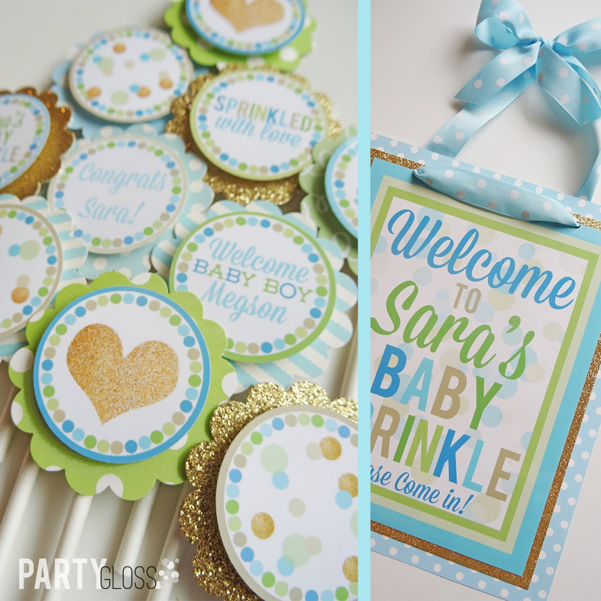 Sprinkled with love baby shower decorations package fully for Baby shower decoration packages