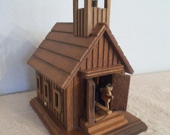 Vintage Wooden Musical School house ~ School Days ~ Teacher Gift ~ Collectible