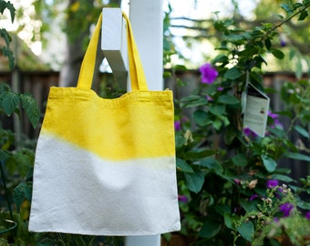 Dip DYED yellow tote bag - Set of Two