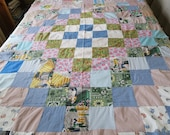 Vintage quilt top, 30s fabric, Around the World, best fabrics, unfinished quilt top, unfinished patchwork , 1930s - 40s cotton, cutter quilt