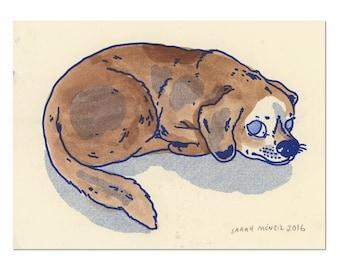 Hand painted Dog Print 09