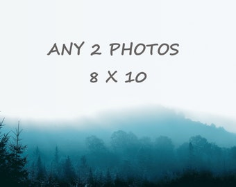 Order any 2 photos 8 x 10, you choose, customized order of any 2 photographs of your choice, 15% off