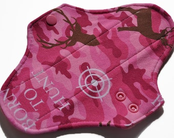 Light Core- Born to Hunt Camo Reusable Cloth Pantyliner Pad- 8.5 Inches