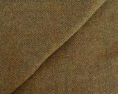 Olive Herringbone -  Felted Wool Fabric Yard in 100% Wool in a Fat Eighth or Fat Quarter Yard