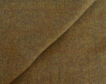 Olive Herringbone - Felted Wool Fabric Yard in 100% Wool in a Fat Eighth or  Fat Quarter Yard