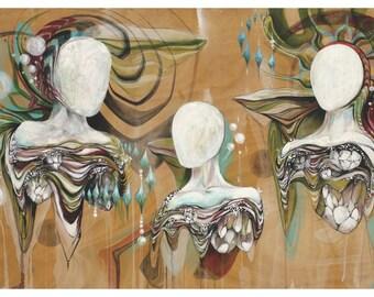 "Sole: The Divine Three - 15x24"" Print - Claire Godbee Art"