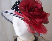 Downton Abbey Summer cloche in white  layered sinamay