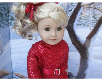 American Girl Doll 18 Inch Holiday Set, Red Doll Clothes