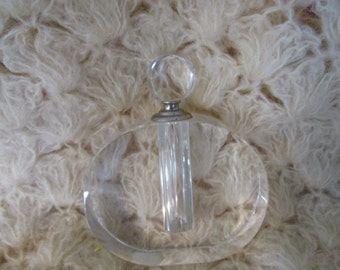 Perfume  Bottle Large Bombay Crystal Bottle with Dipper Stamped : Bombay empty bottle