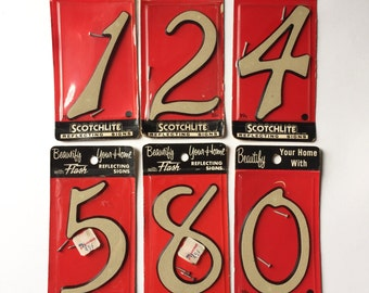 Vintage 1950s House Numbers / Choose Your Retro Numbers 1,2,4,5,8,0 Available / 50s Atomic Home Decor