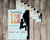 Instant Download Rock Climbing {You Fill In} Birthday Invitation -Print Your Own