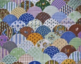 Patchwork Print Quilting Cotton Fabric Remnant 1 Yard, 44 Inches