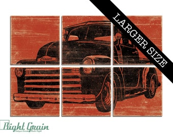 EXTRA Large Vintage Pickup Truck Wall Art - Large Old Truck Print Collection - Boys Room Art - Nursery Decor 32x48