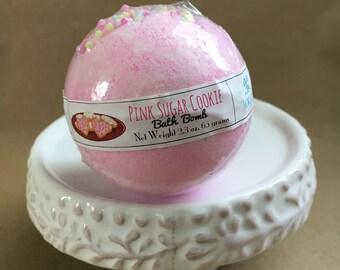 Pink Sugar Cookie Bath Bomb