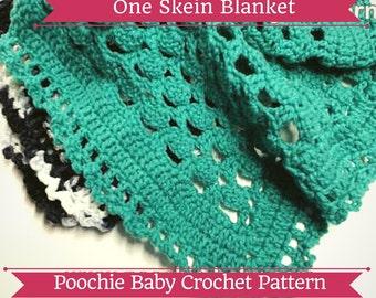 PATTERN - One Skein Crochet Baby Blanket: The Frieda