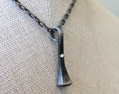 ON SALE Annie - Horseshoe nail necklace with ONE sterling silver rivet - single