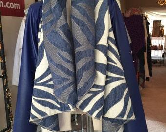 NK Blue Zebra Circle Jacket