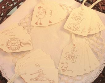 Baby Shower Mini Gift Tag Collection Nail Polish Tags Set of 25