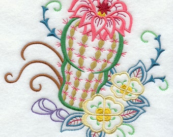 Southwestern  embroidered flour sack dish towel
