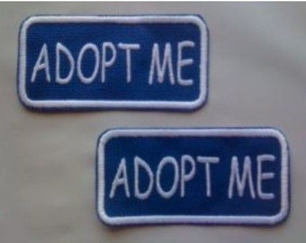 Adopt Me - Embroidered Pair of Sew On Rectangle Patches