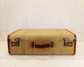 Vintage Striped Suitcase Large Size Luggage