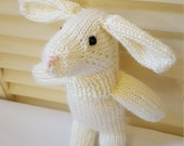 Bunny Rabbit Stuffed Animal Toy/ Cream/ Hand Knitted Amigurumi Doll/ Handmade Toys/ Stuffie Rabbits/ Knit Off White Rabbits/ Gift For Kids