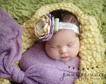 Lemon Yellow Mini Blanket Newborn Photography Prop