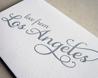 Letterpress Greeting card - Regional Love from Los Angeles