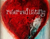 reserved listing for kim c.